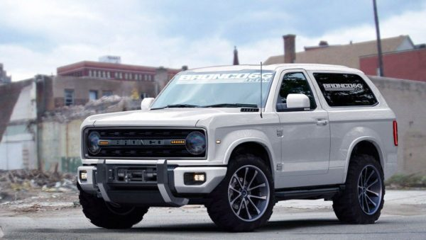 Redner of new Ford Bronco