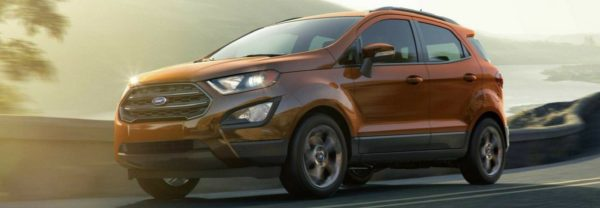 2018 Ford EcoSport driving down a road