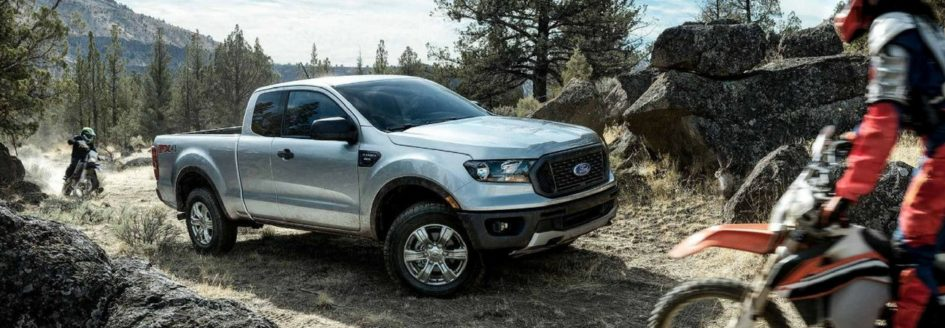 2019 Ford Ranger parked on forest trail